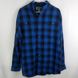 Duluth Trading Co Flannel Button Down Shirt